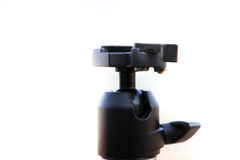 Focus on head tripod. Friend of photographer Stock Images