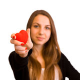 Focus on heart Royalty Free Stock Images