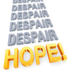 Focus On Hope Over Despair Stock Image