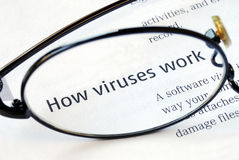 Focus on how viruses work. Focus on the fact that how viruses work Royalty Free Stock Photography