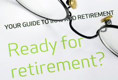 Focus on the investment in the retirement plan Royalty Free Stock Photography