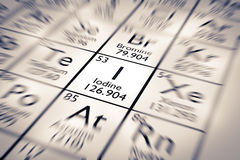 Focus on Iodine Chemical Element royalty free stock images