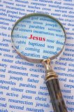Focus on Jesus Royalty Free Stock Photography