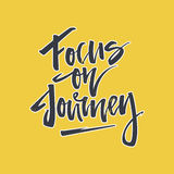 Focus on Journey Lettering Stock Image