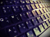 Focus keyboard royalty free stock photos