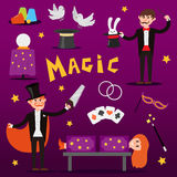 Focus magic symbols vector set. Stock Photo