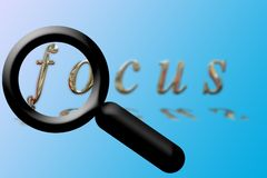 Focus of magnifying glass Royalty Free Stock Images
