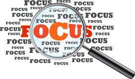 Focus. Magnifying Glass Stock Photo
