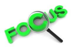 Focus and Magnifying Glass Stock Photos