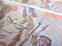 Focus on Marianne over one hundred francs banknote Stock Images