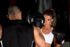 Focus Mitt Training Royalty Free Stock Photo