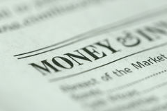 Focus on Money. Shallow depth of field with money and paper texture in focus Stock Photos