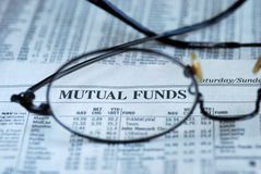 Focus on mutual fund investing Royalty Free Stock Photos