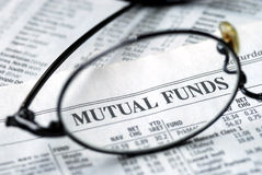 Focus on mutual fund investing Stock Photo