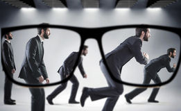 Focus on the numerous businessmen. Focus on the numerous handsome businessmen Stock Photo