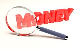 Focus On Money Royalty Free Stock Images