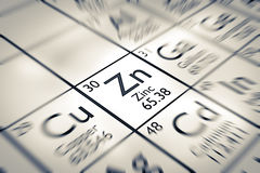 Free Focus On Zinc Chemical Element Stock Image - 67086601
