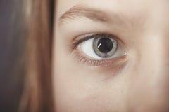 Focus on open eye Stock Photos