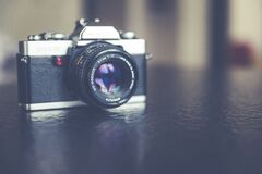Focus Photography of Black and Gray Point and Shoot Camera Royalty Free Stock Photos