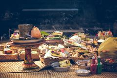 Focus Photography of Food Buffet royalty free stock photo