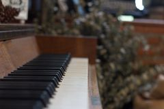 Focus on the piano keys Focus on the piano keys royalty free stock photo