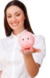 Focus on a piggybank Royalty Free Stock Photography
