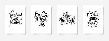 Focus on the positive, be ceo of your life, free yourself,  Royalty Free Stock Photo