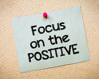 Focus on the positive Royalty Free Stock Images