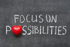 Focus on possibilities Royalty Free Stock Photo