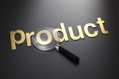 Focus on product Stock Photo