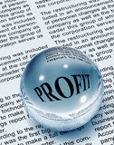 Focus on profit. Word in newspaper Royalty Free Stock Photo