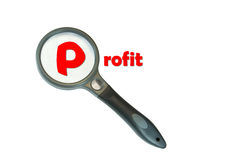 Focus on Profit Stock Photo