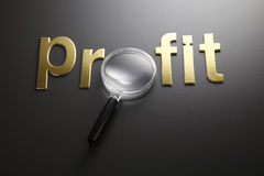 Focus on the profit Stock Photography