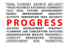 Focus on PROGRESS Stock Images
