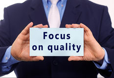 Focus on quality Stock Images