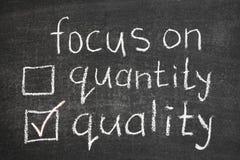 Focus on quality Stock Photos