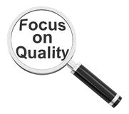 Focus on quality Royalty Free Stock Photography