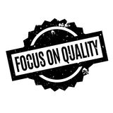 Focus On Quality rubber stamp Stock Photography