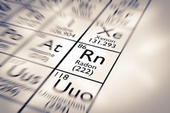 Focus on Radon Chemical Element Royalty Free Stock Images