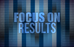 Focus on results on digital touch screen. Illustration design Royalty Free Stock Image