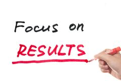 Focus on results Royalty Free Stock Photo