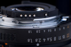 Focus ring of camera lens Royalty Free Stock Photos