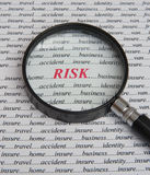 Focus on risk: it pays to insure. stock photos