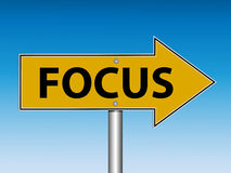 Focus Road Sign (Vector) Stock Image