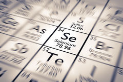 Focus on Selenium Chemical Element Royalty Free Stock Image