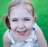 Focus on the smile of a child. Stock Photography