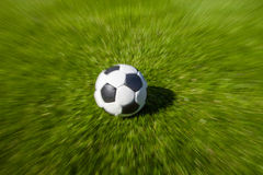 Focus on soccer ball Royalty Free Stock Images