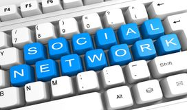 Focus on social network Stock Images
