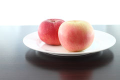 Focus soft near apple dish Royalty Free Stock Photo