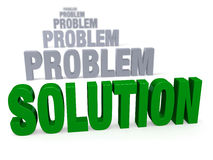 Focus On Solution, Not Problems Stock Image